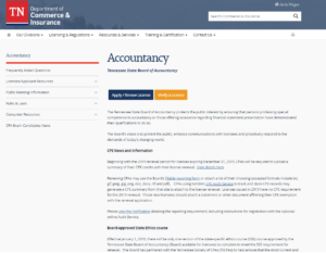 Tennessee State Board of Accountancy