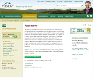 Vermont Board of Public Accountancy