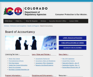 Colorado State Board of Accountancy
