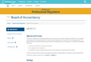Delaware State Board of Accountancy