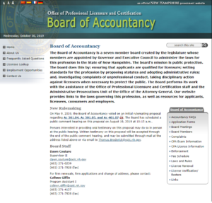 New Hampshire Board of Accountancy