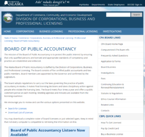 Alaska State Board of Public Accountancy | EZ-cpe.com
