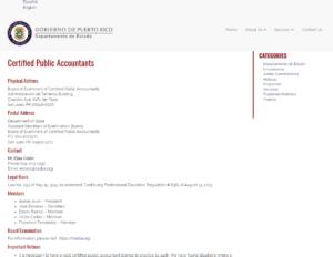 Puerto Rico Board of Accountancy