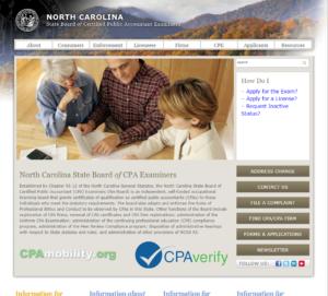 North Carolina State Board of CPA Examiners