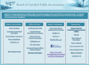 Wyoming Board of Certified Public Accountants